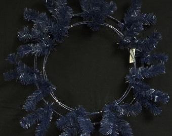 "24"" Navy Blue Deco Mesh Wreath CVW190 , Poly Mesh Supplies"