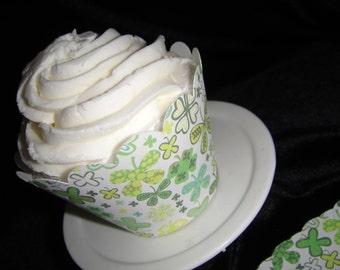 Shamrock Cupcake Wrappers
