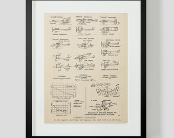Vintage Flying Machine, Airplane Print 10