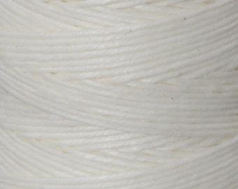 Tools & Supplies-4-Ply Irish Linen Cord-Waxed-White-Quantity 100 Yards