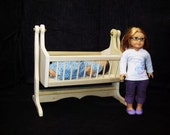 Handcrafted furniture for American Girl Dolls - bitty baby cradle, raw