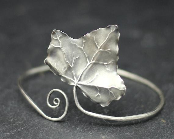Ivy Leaf Bracelet, a unique hand made sterling silver ivy bangle