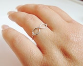 infinity ring, Sterling silver infinity, eternal ring, infinite ring,