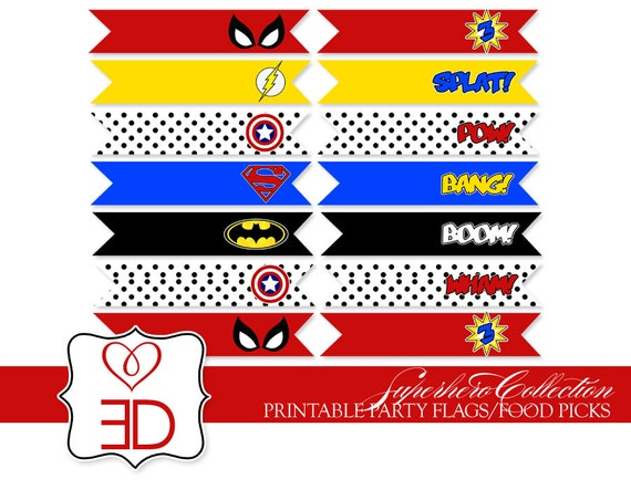 Gallery For gt Super Hero Party Printables