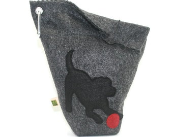 Dog Leash Bag // Black Lab // Dog Treat Bag // Poop Bag Dispenser