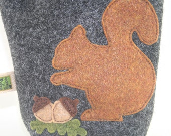 Poop Bag Holder Small Leash Bag Squirrel