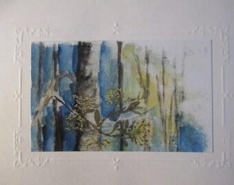 Embossed Frame Watercolor Notecard