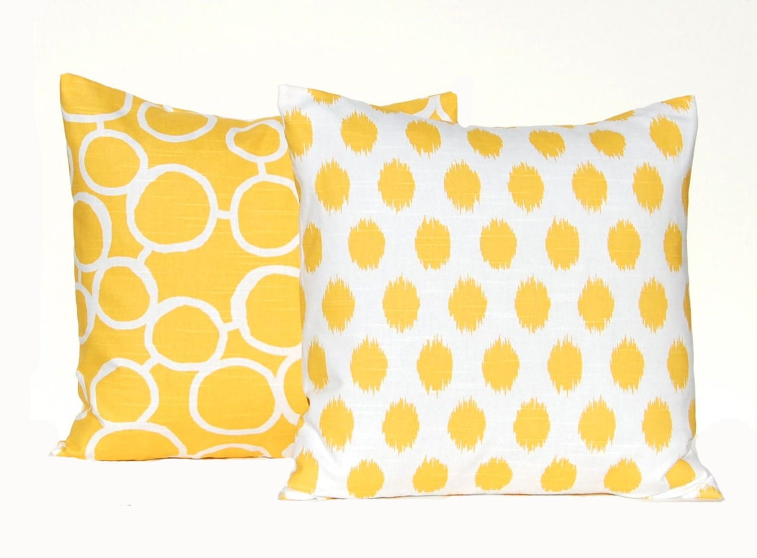 Throw Pillow Yellow : SALE Yellow Pillows Decorative Throw Pillow by FestiveHomeDecor