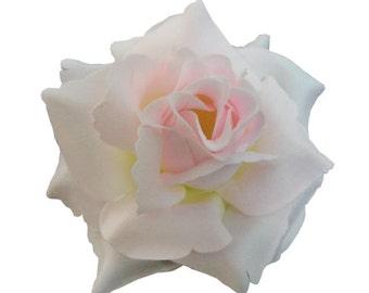 Light Pink Rose flower Hair Clip 4 Inch.