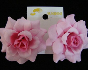 Mini Pink Rose flower Earrings