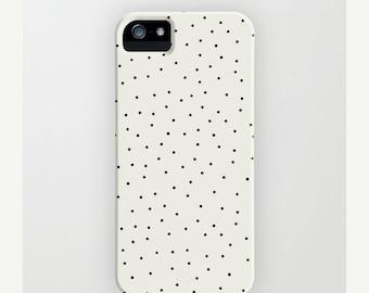 Stracciatella, iPhone 7, 6, 5, 4 Case, Speckled, Polka Dots, Artist Design