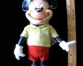 "Vintage Mickey Mouse Doll Disney R. Dakin Walt Disney Products  7 3/4"""