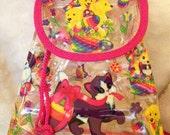 clear vinyl LISA FRANK mini backpack