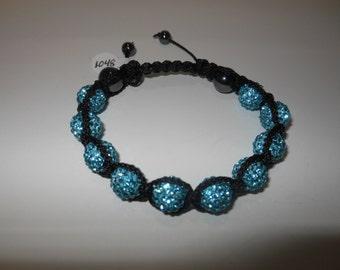 Shambala Swarovski Pave Crystal Bracelet - Blue