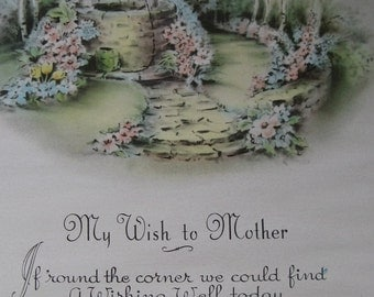 mother  print  my wish to mother gold metal frame  8 by 10 easel back