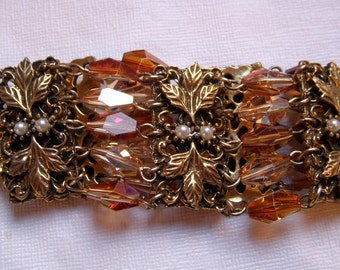 TARA Bracelet with Champagne and Topaz Crystals