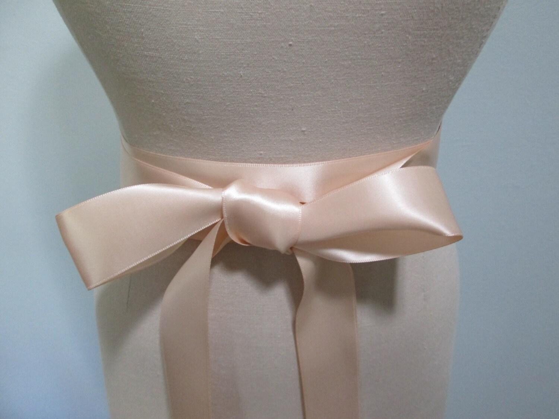 Blush Champagne Ribbon Sash Wedding Belt Satin Ribbon