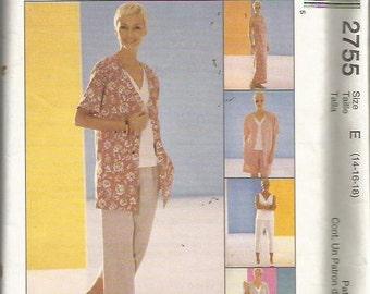 McCall's 2755 Easy Wardrobe Pattern SZ 14-18