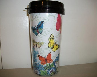TRAVEL MUG - Butterflies