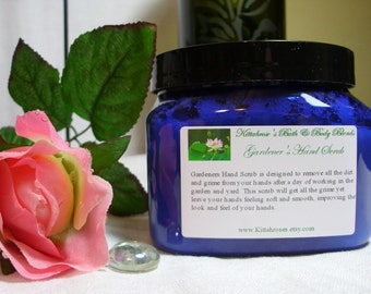 Gardeners Hand Scrub - 6 oz or 8oz Jar - Moisturizing Sugar Scrub For Men & Women - Cleans Dirt, Grime, and Grease From Your Hands