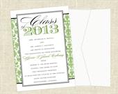 Printable Graduation Announcements  - College, High School, Military