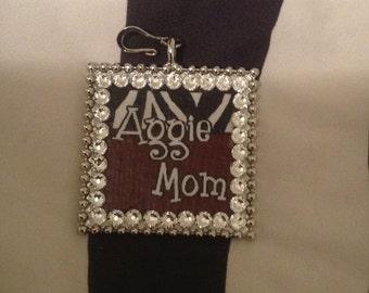 Aggie Mom Square Pendant