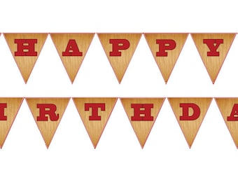 DIY Printable Retro Fishing Birthday Party Banner Instant Download