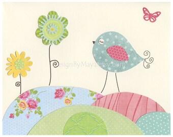 Nursery decor Baby Room Decor, Savannah Nursery, baby Art Prints, Kids Wall Decor, Daisy, Key west, pink Blue Green BABY ROOM Prints