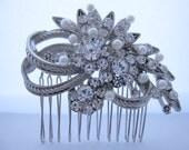 Bridal hair accessories wedding hair jewelry 1920's bridal hair comb wedding headpiece bridal jewelry wedding accessories bridal jewelry