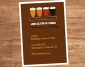 Beer Flight Custom Birthday Party Invitation