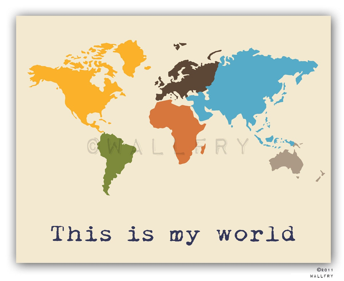 kids wall art world map print childrens wall art kid