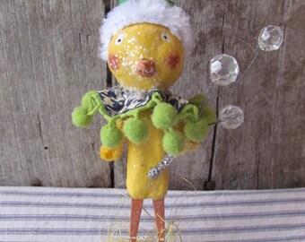 Primitive Folk Art Easter Spring Chick