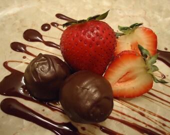 Truffles, Strawberry, Balsamic Vinegar, Dark Chocolate, Chocolate, Truffles, Belgian Chocolate, Hostess Gifts, Gifts for Her