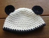 Organic Newborn Panda Hat
