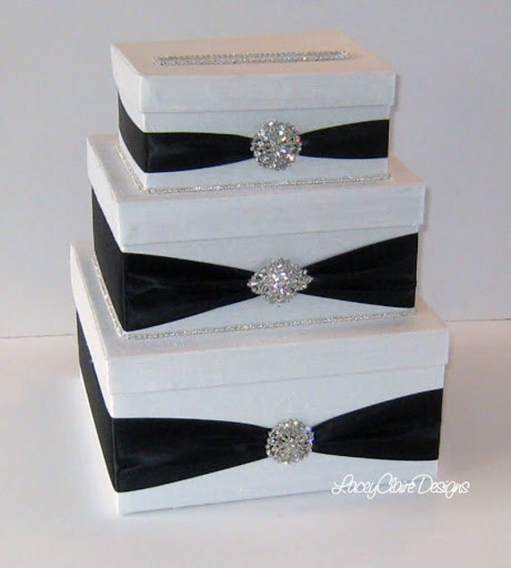 Wedding Card Boxes For Receptions: Wedding Card Box Handmade Bling Card Box Custom Made