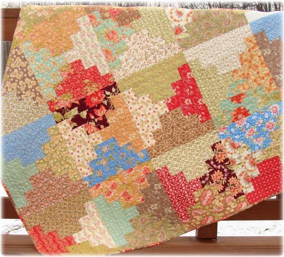 Quilt Patterns For 20 Fat Quarters : PDF Quilt Pattern Graceful Steps Carlene Westberg Designs Fat Quarter Quilt from PatchworkPlaza ...