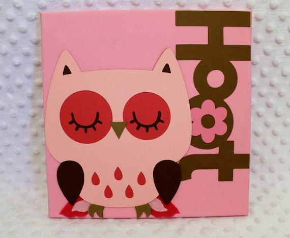 Items Similar To Wall Decor Pink Owl Baby Nursery Kids