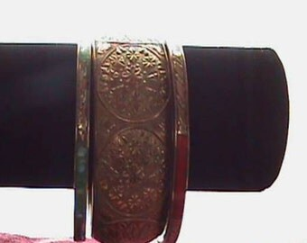 Brass and Inlay Bangle Bracelets From India