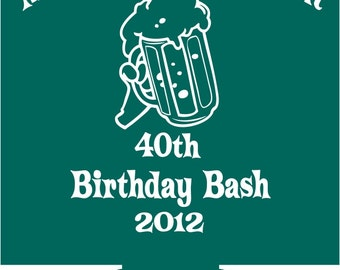40th Birthday Koozies Personalized Lot of 25 custom can party favor ...