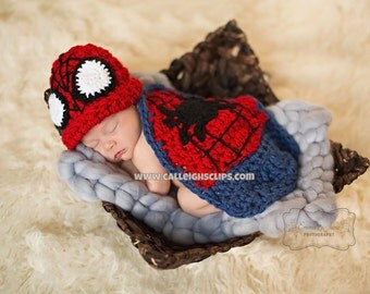 Instant Download Crochet Pattern No. 93  - Spiderbaby Cuddle Cape Set
