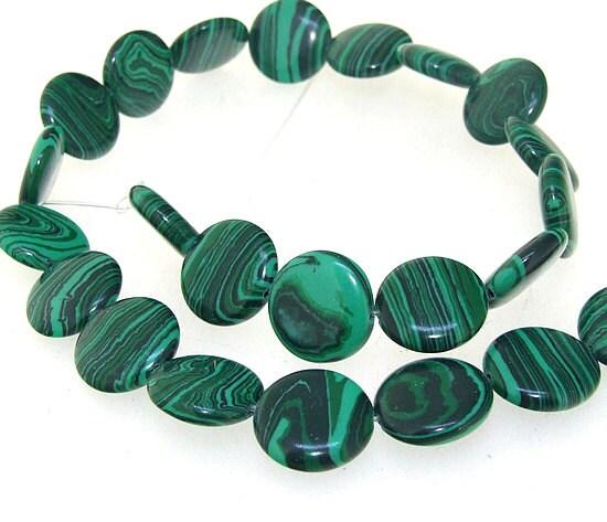 16 mm pi ce jaspe vert de malachite malachite jasper - Vert de malachite ...