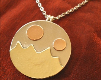 Handcrafted Womens Jewelry for Women - Rocky Mountain High Pendant with Chain - JammerJewelry NK37