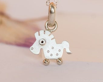 Horse Pendant Sterling Silver Mini Zoo series