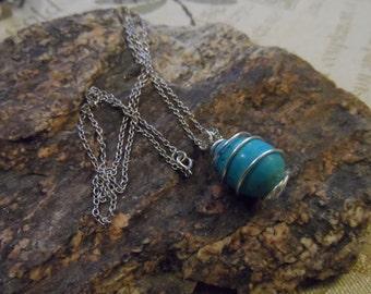 Semi Precious Robin Egg Blue 22 Inch Necklace