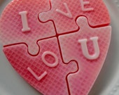Heart Puzzle Soap - hostess gift, gifts for her, stocking stuffer for teen