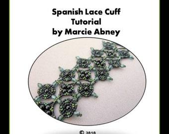 Beadweaving Tutorial Beading Beaded Bracelet Handmade Jewelry Making Instructions Beadweaving Lessons PDF Jewelry Cuff Bracelet