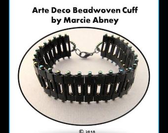 Beadweaving Tutorial - Arte Deco Beadwoven Right Angle Weave Cuff