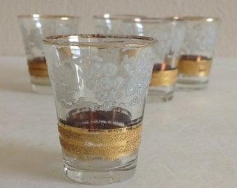 Vintage Set of Varzesa Shot Glasses Grape Design