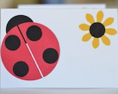 Ladybug Place Cards, Set of 4, Ladybird, Girls Birthday Party