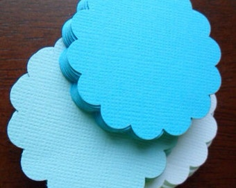 blue . textured . scalloped . circles . 60